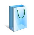 Blue Paper Bag with rope handles for Gifts vector image vector image