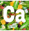 calcium in food banners-13 vector image