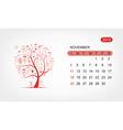 calendar 2012 november Art tree design vector image