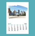 calendar sheet chicago march month 2021 year