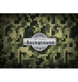 Camouflage military pixel art pattern background vector image vector image
