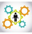 collaborative teamwork design vector image vector image