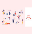 collection of people carrying large decorated vector image vector image