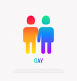 couple of gays holding hands each other vector image vector image