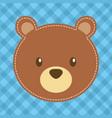 cute head bear teddy bear vector image