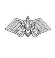 elephant head front zentagle vector image vector image