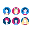 Female avatars vector image