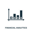 financial analytics icon creative element design vector image