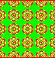 flower mandala seamless pattern bright green vector image vector image