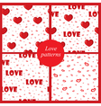 four love patterns vector image vector image