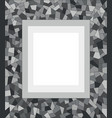 gray dark mosaic triangles abstract border vector image