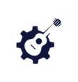 guitar machine logo vector image