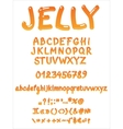 Handwritten jelly font vector image vector image