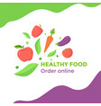 healthy food with vegetables vector image