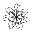 herb flower icon simple style vector image