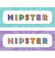 hipster pop art style inscriptions set on rays vector image vector image