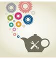 Industrial teapot vector image