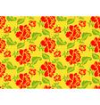 Khokhloma Russian national seamless pattern vector image