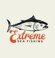 logo design extreme sea fishing with tuna fish