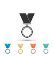 medal icon on white background winner symbol vector image