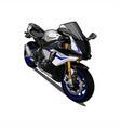 motorcycle sport vector image vector image