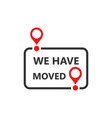 move location icon in flat style pin gps on white vector image vector image