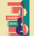 music poster background with musical instruments vector image