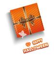orange gift box for halloween halloween design vector image vector image