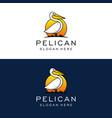 pelican logo design template vector image vector image