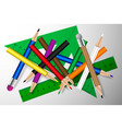 pencil colored pencils and ruler vector image