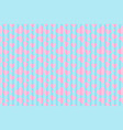 pink heart with line blue sweet pattern background vector image