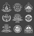 pizza monochrome emblems set vector image vector image