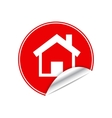 Red sticker home vector image vector image