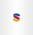 s logo s logotype tech icon sign element design vector image vector image