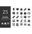 school related icons vector image vector image