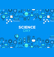 science day outline icon vector image vector image
