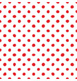 seamless pattern with tile red polka dots on white vector image vector image