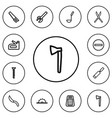 set of 12 editable tools outline icons includes vector image vector image