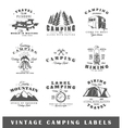 Set of vintage camping labels vector image vector image