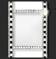 silver film on curtain backdrop vector image vector image