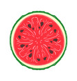 sliced colored sketch style fruit watermelon vector image