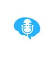 think podcast logo icon design vector image