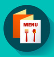 three-fold menu icon template flat style vector image vector image