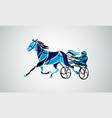 trotting horse riding in a race track vector image