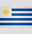 uruguay flag background for russian soccer event vector image vector image