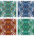 vecor set of colorful abstract seamless pattern vector image