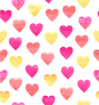 watercolor pattern with hearts vector image