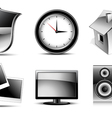 web icons high detailed set vector image vector image