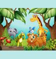 wild animals in nature vector image vector image