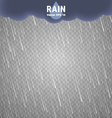 Transparent Rain Image Rainy Cloudy background vector image